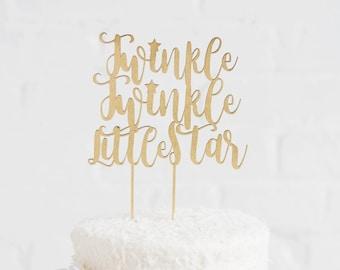 Twinkle Twinkle Little Star Cake Topper // Baby Shower Cake Topper // Gender Reveal Cake Topper // First Birthday Cake Topper // Birthday