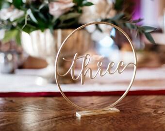 Wedding Table Numbers // Script Table Numbers //  Table Numbers //  Calligraphy Table Numbers //  Wedding Decor // Wedding Table Numbers
