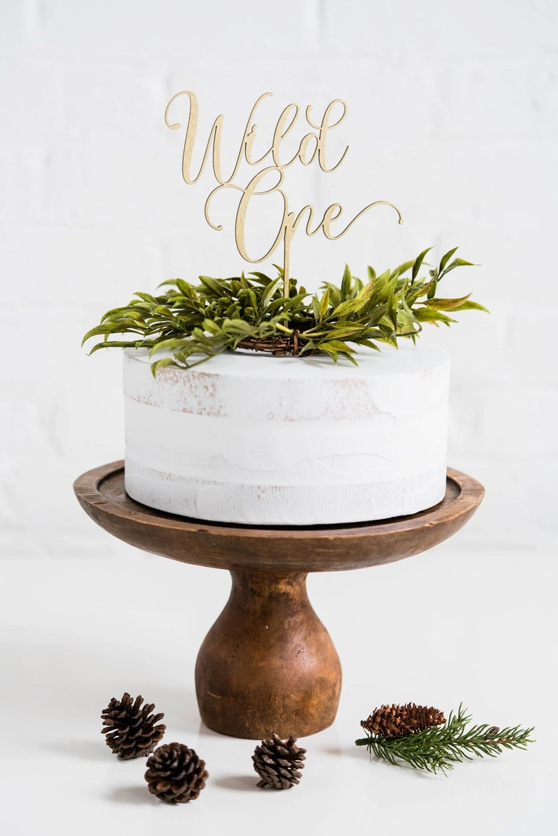Wild One Cake Topper // Happy birthday Party // Happy birthday image 1