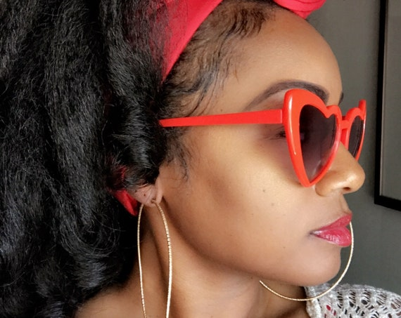 "Head wrap ""Solids"" Cherry red"