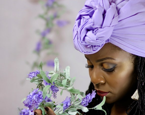 "Head Wrap The""Lavender Solid"" Hair wrap"