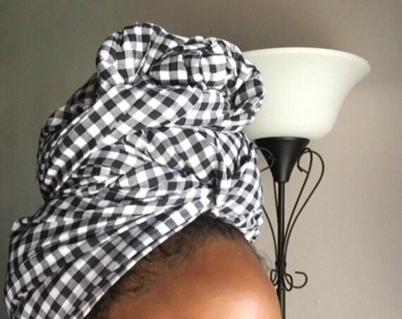 "The ""Black Picnic""hair wrap"