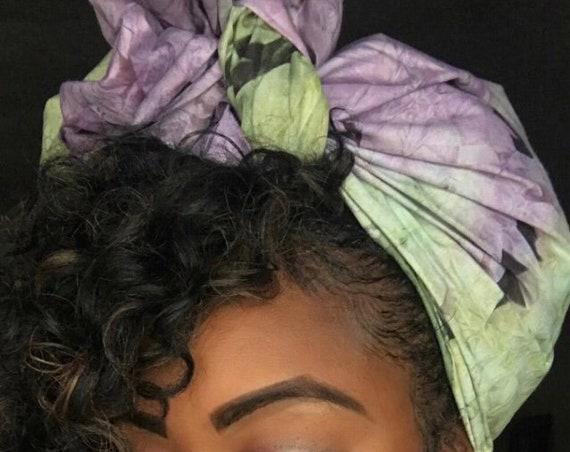 """Head wrap """"Purple Mint"""""""