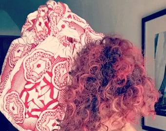 """The """"Red Door"""" hair wrap"""