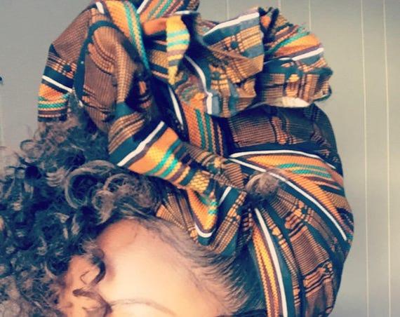 "The ""Caramel"" hair wrap"