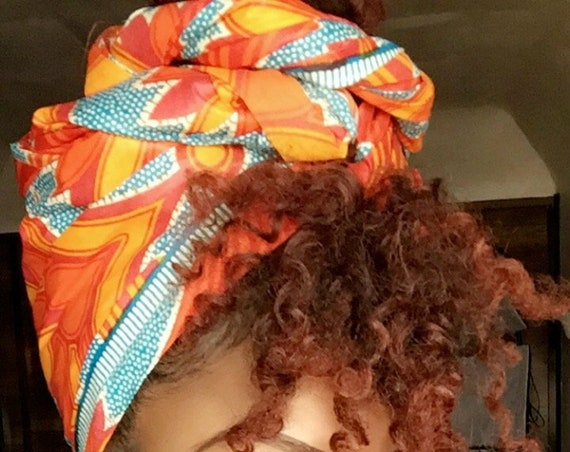 "The ""Citrus"" hair wrap"