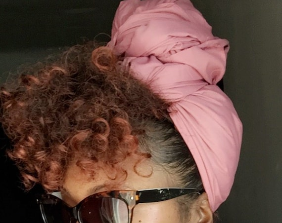 "Head Wrap The ""Rose Pink Solid"" hair wrap"