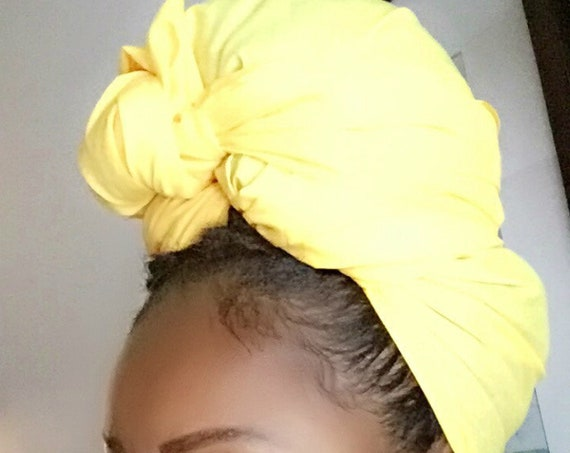 """The """"Yellow Solid"""" hair wrap"""