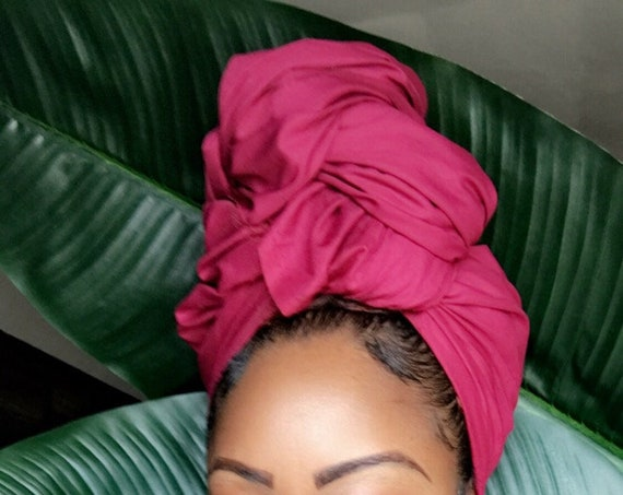 "Head wrap ""Maroon"" 2 for 1"