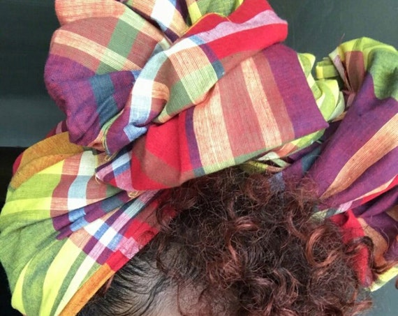 "The ""Plaid"" hair wrap"