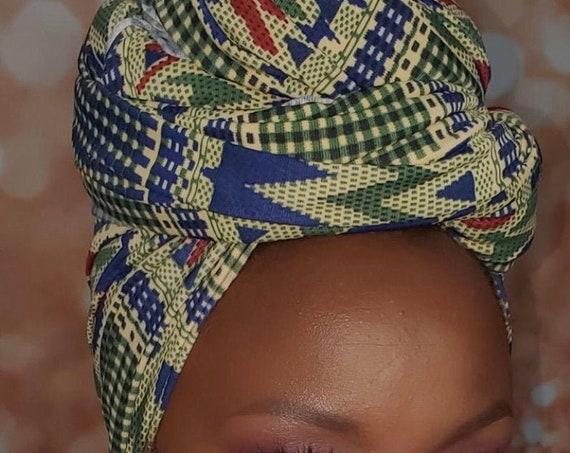 Head wrap stretchy