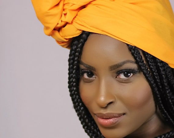 """The """"Burnt Orange Solid"""" hair wrap 2 for 1"""