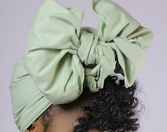 "The ""Mint Solid"" hair wrap"