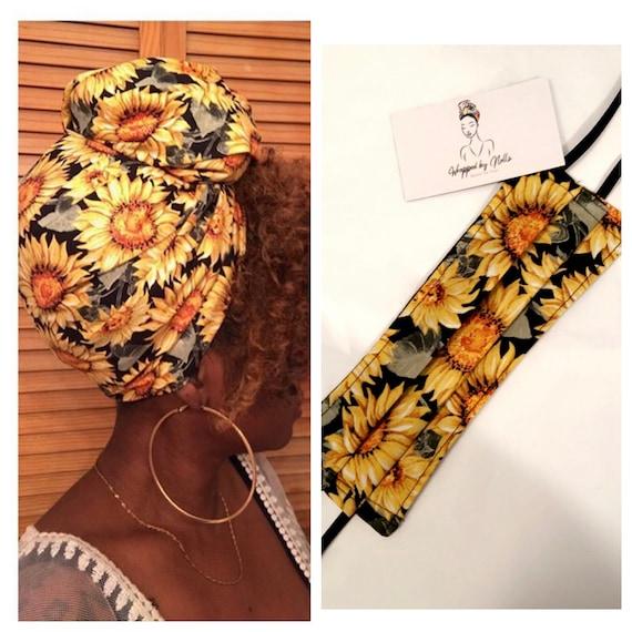 Sunflower filtered Mask & Wrap set