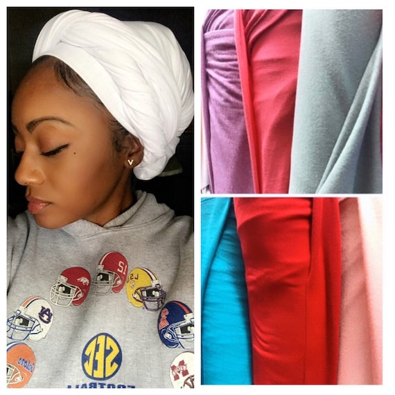 "Head wrap ""Jersey cotton stretchy"""
