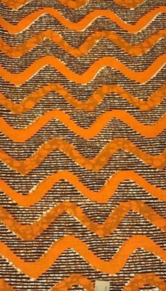 "The ""Orange Waves"" hair wrap"