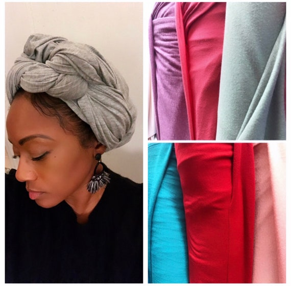 "Head wrap ""Jersey stretchy cotton"" wrap"
