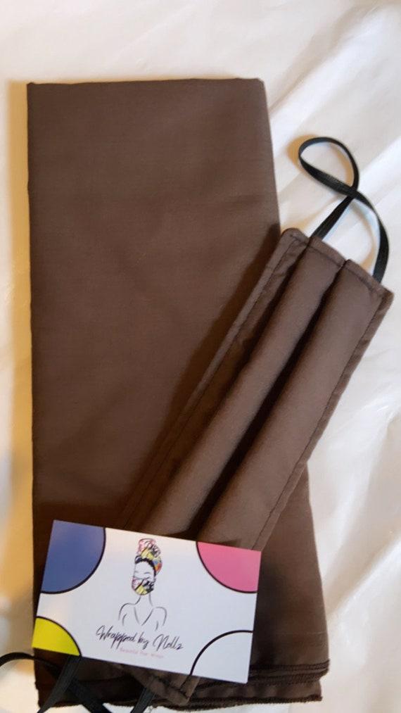 Wrap & filtered Mask set Solid Brown