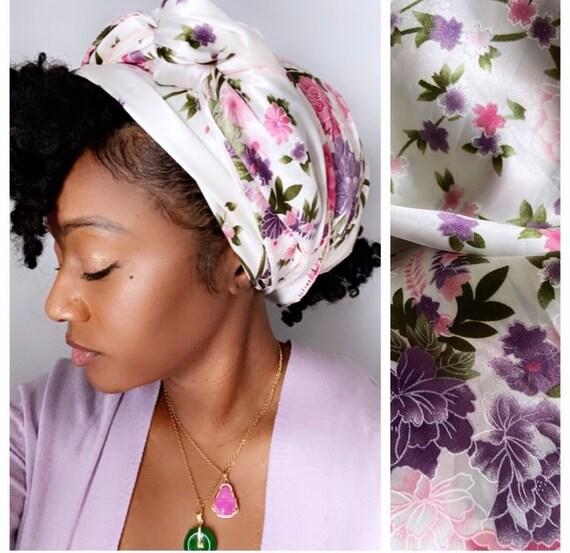 """The """"Flower Stem"""" chiffon/satin hair wrap"""