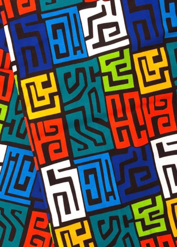 """The """"Colorful Maze"""" wrap"""