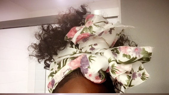 """The """"Satin stem"""" hair wrap"""