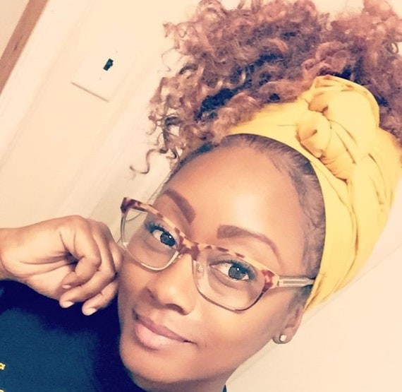 "The ""Mustard Solid"" hair wrap"