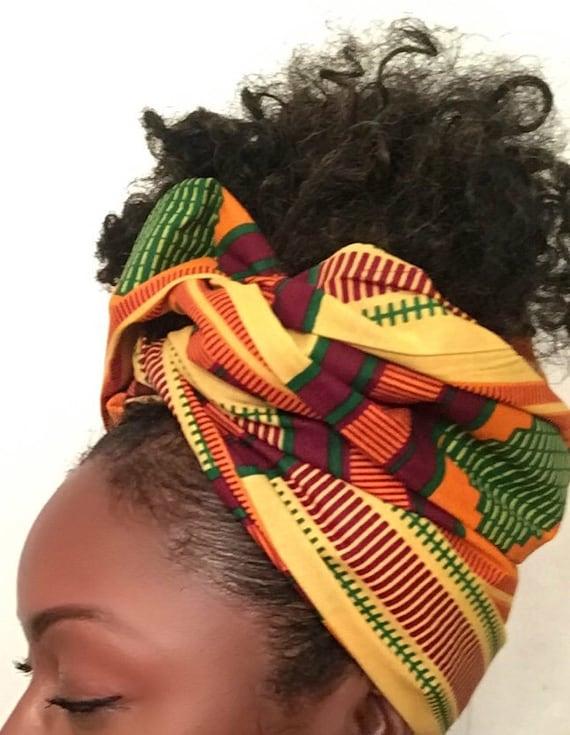 """The """"Sugar Cane"""" hair wrap"""