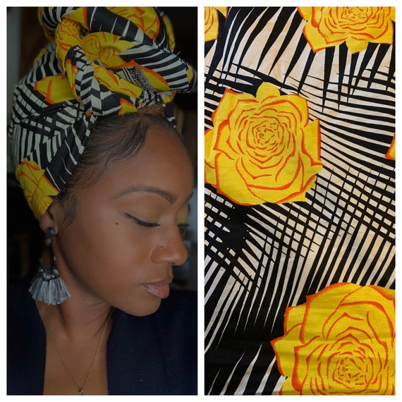 "head wrap ""Lemon pepper"" wrap"