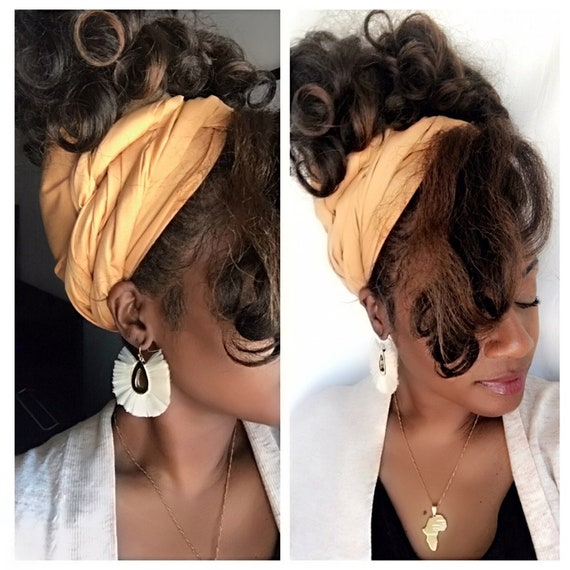 "The ""Butter cream"" head wrap"
