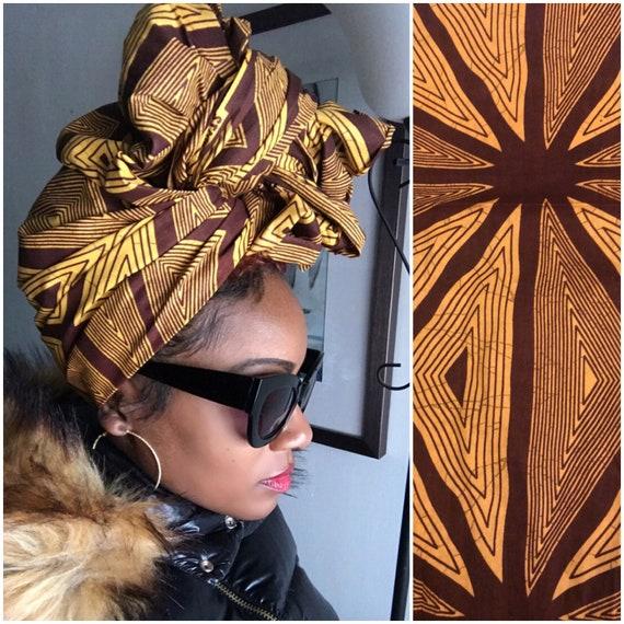 "The ""Cinnamon"" hair wrap"