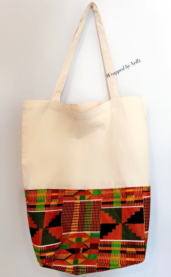 """The """"Tote bag"""" Beige with pattern"""