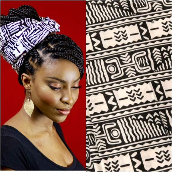 "Head Wrap The ""Cookies n Cream"" hair wrap"