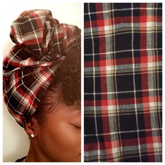 "The ""Plaid"" hair wraps"