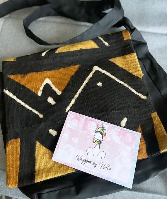 "The ""Mud Cloth"" flap bag"