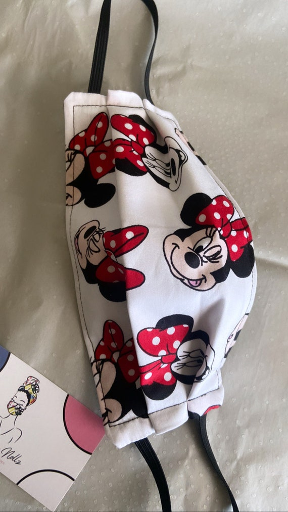 Filtered Mask (red polka dot Minnie mouse)
