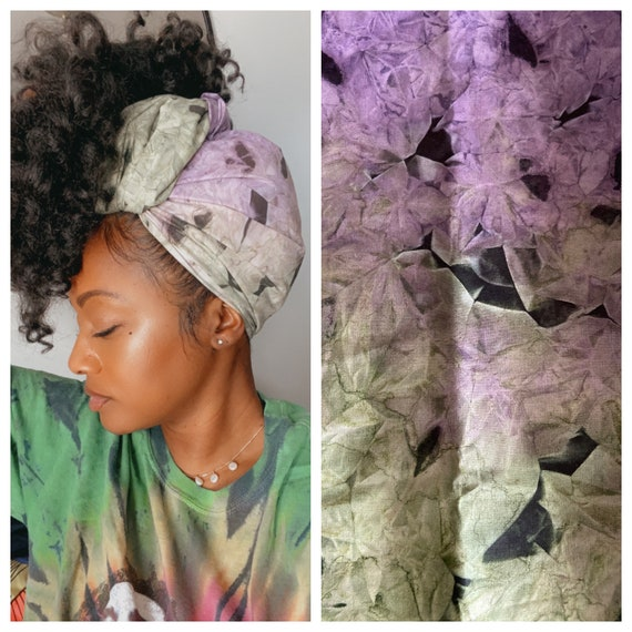 "Head wrap ""Purple Mint"""