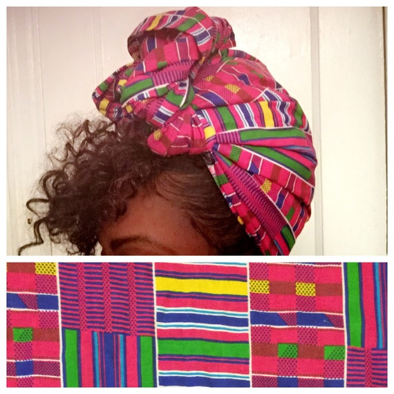 "The ""Candy Land"" hair wrap"