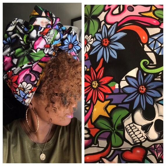"""Head wrap """"Graffiti"""""""