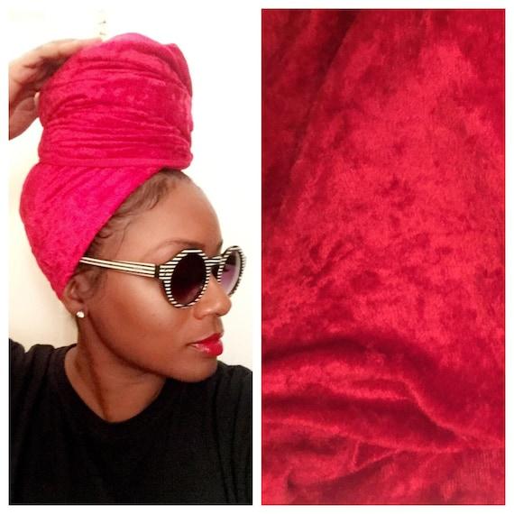 """The """"Velvet"""" Red wrap"""