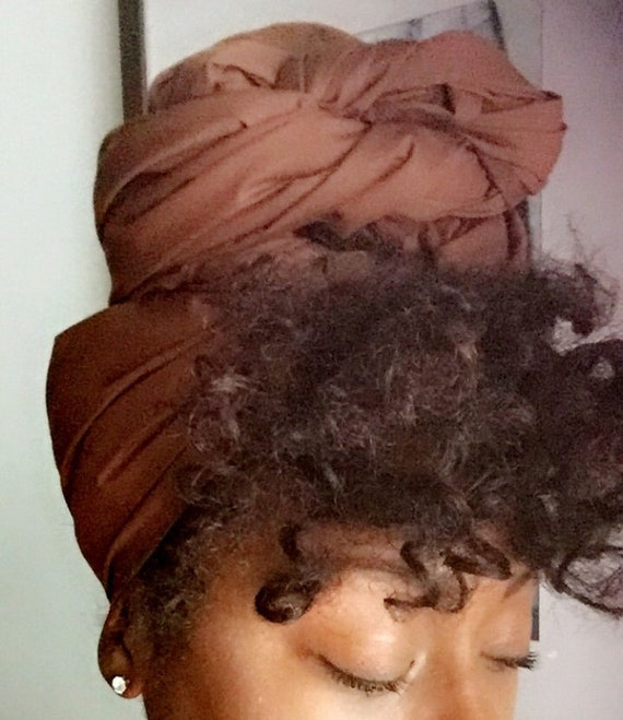 "The ""Brown"" solid hair wrap"