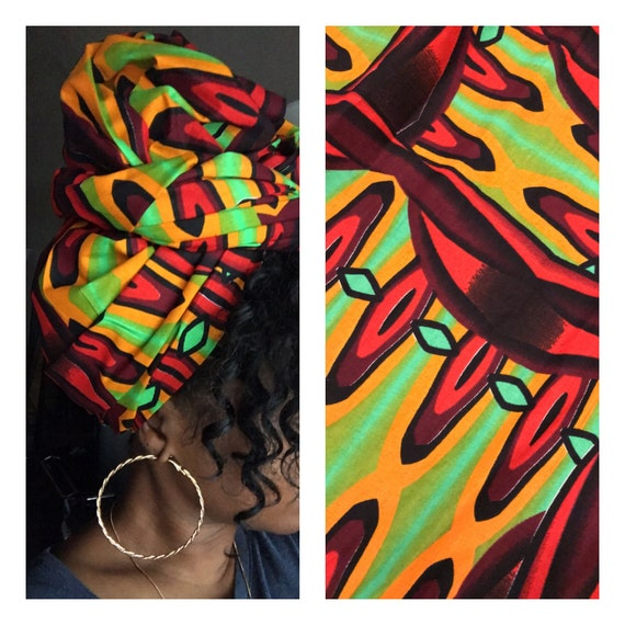 "Head wrap ""Hot Tamale"""