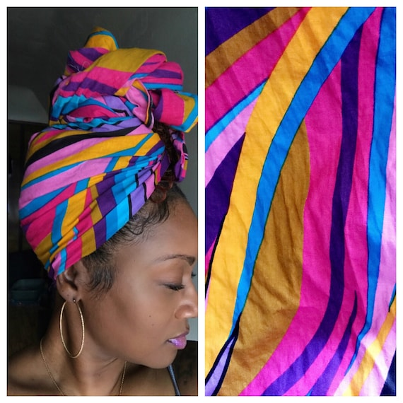 "Head Wrap The ""Bubble Gum"" hair wrap"