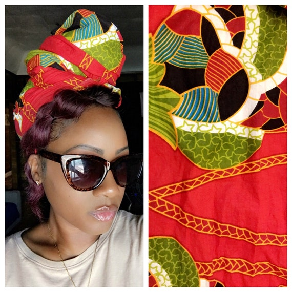 "Head wrap ""Toucan"""