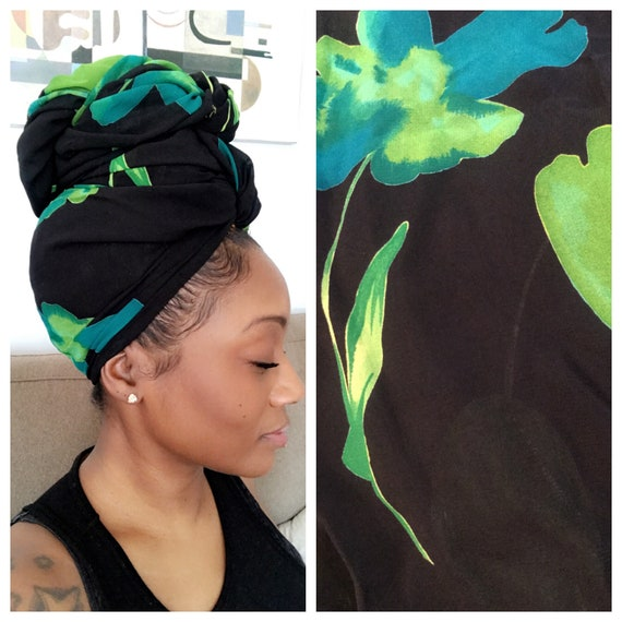 "Head wrap ""Green Tea"""