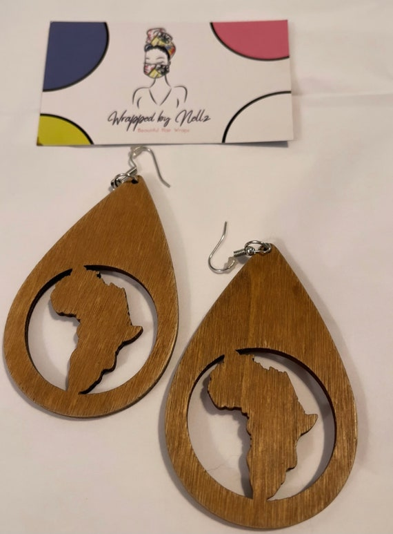"The ""Wooden"" Earrings (Light Brown)"