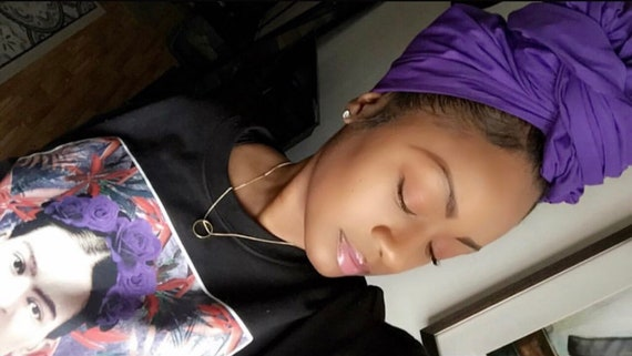 """The """"Dark Purple Solid"""" hair wrap 2 for 1"""