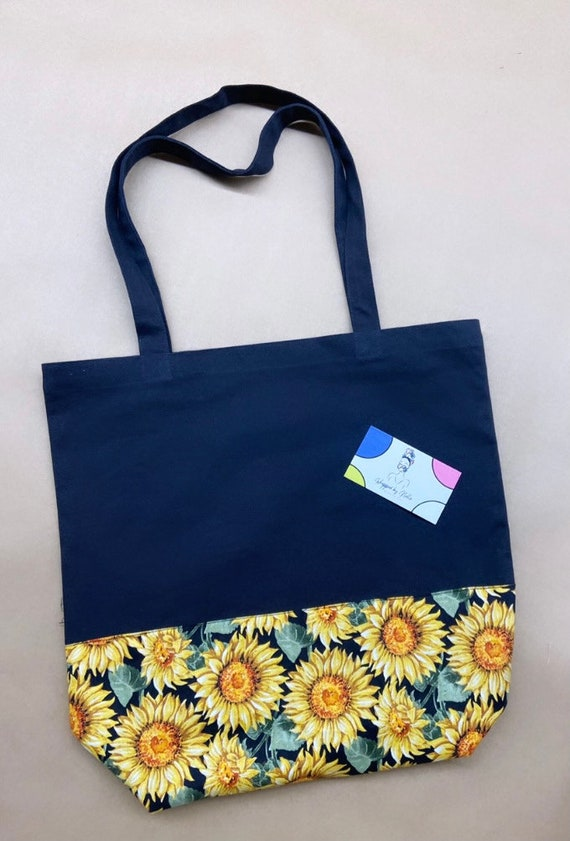 """The """"Tote bag"""" Black (sunflower)"""