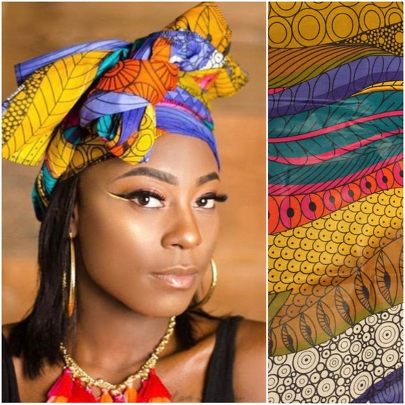 "Head Wrap The ""Color Valley"" hair wrap"