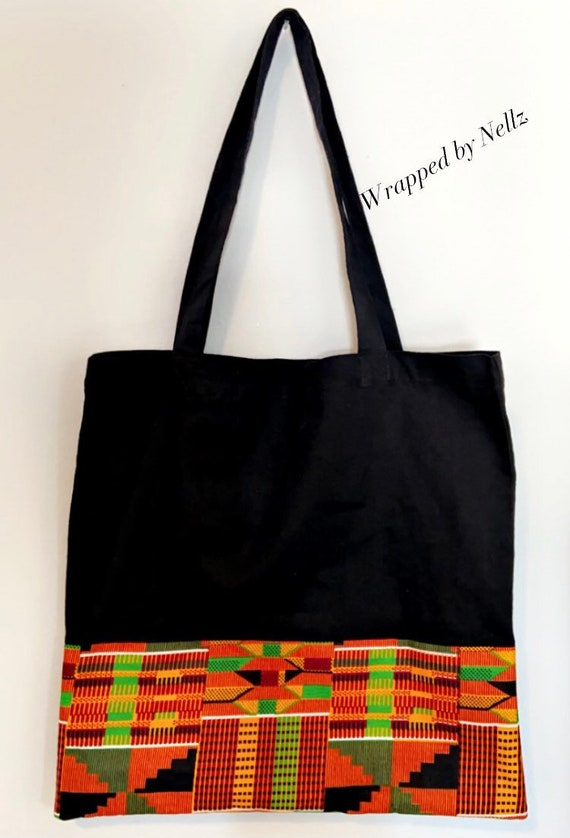 """The """"Tote bag"""" black with pattern"""