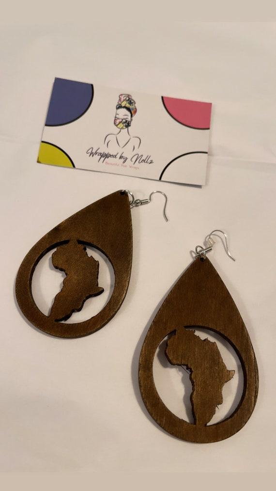 """The """"Wooden"""" Earrings (Dark Brown)"""